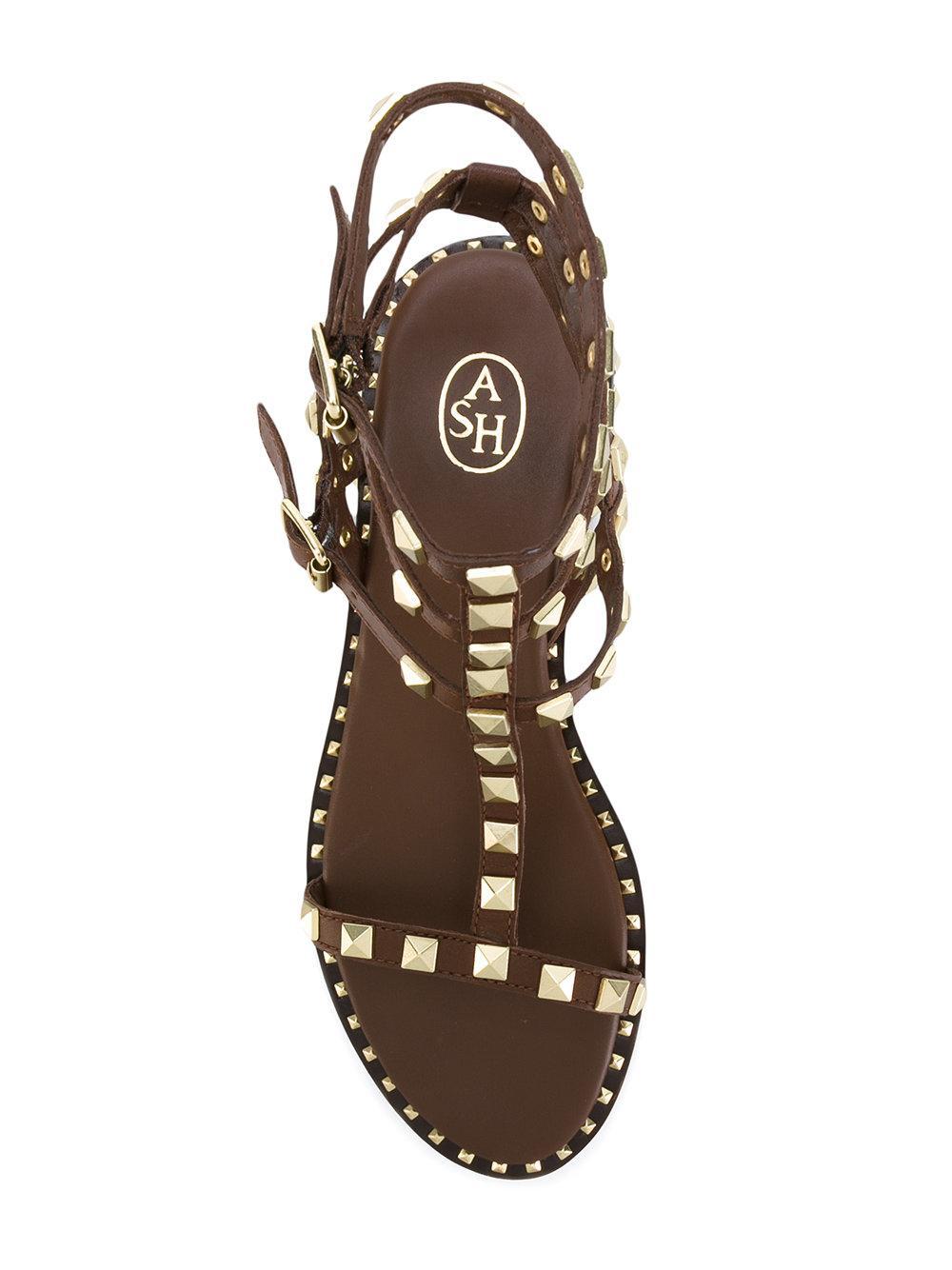 Lyst Ash Poison Sandals In Brown