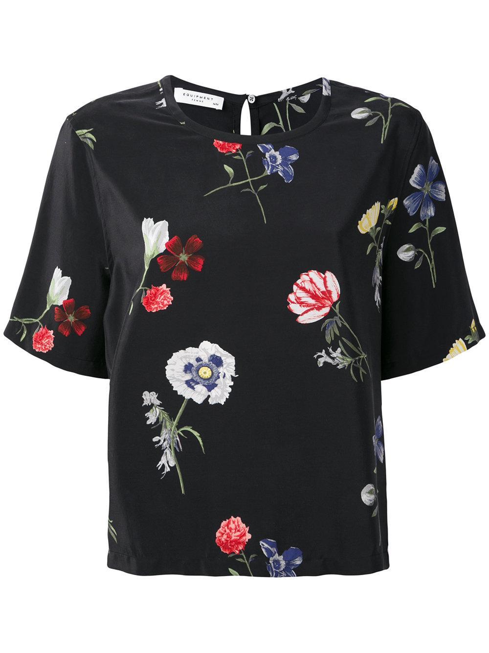 Equipment Womens Brynn Floral Top