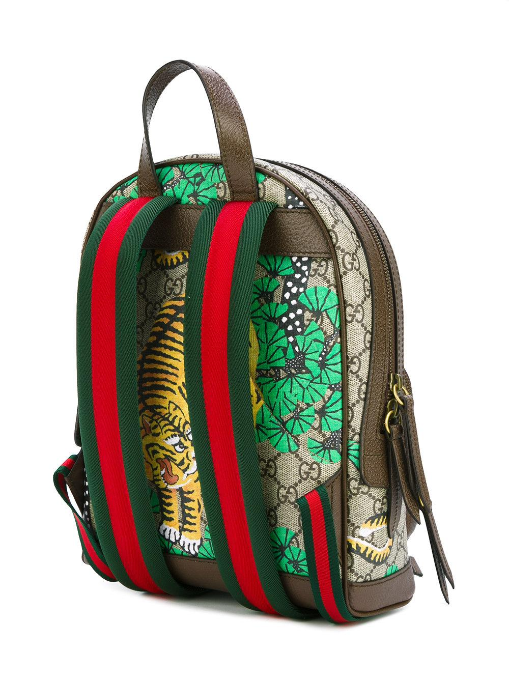 4a765047ff08 Gucci Bengal Tiger Print Backpack for Men - Lyst
