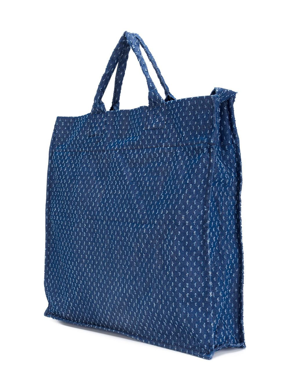 Sunnei Cotton Textured Tote in Blue for Men