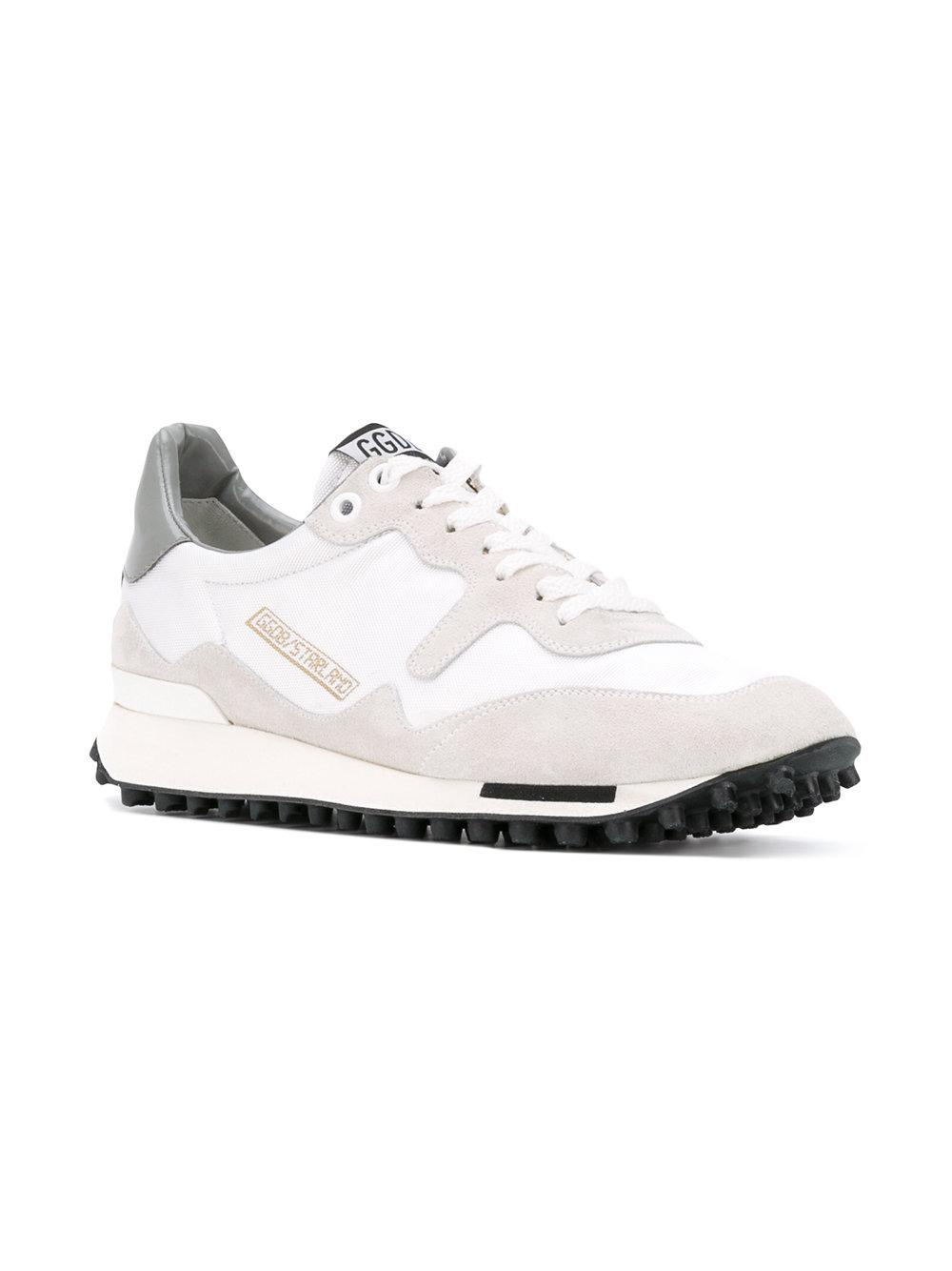 Golden Goose Deluxe Brand Leather Starland Sneakers in White