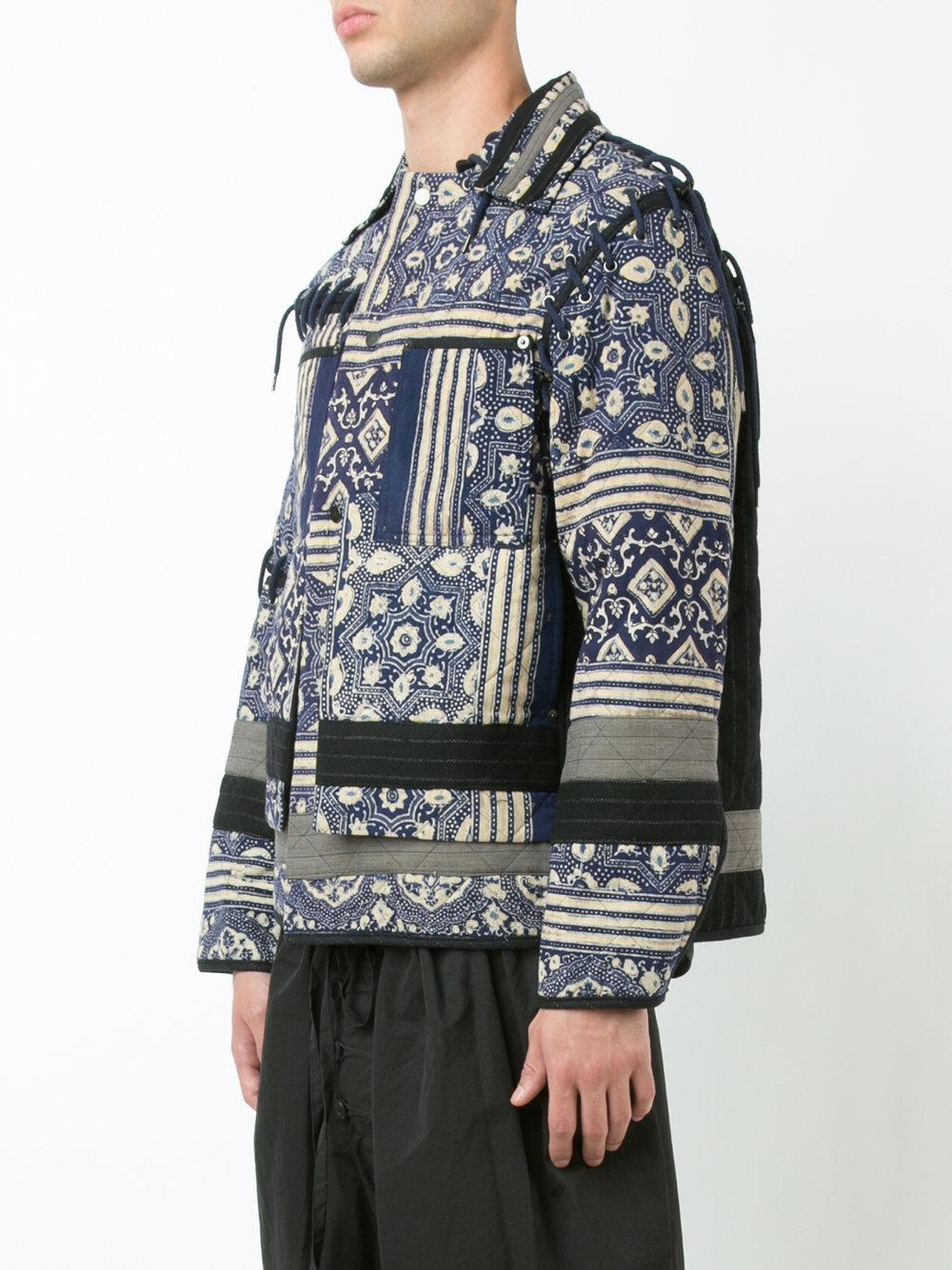 Lyst Craig Green Quilted Patchwork Jacket In Black For Men