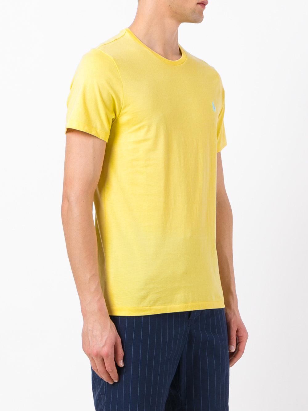 lyst polo ralph lauren short sleeve t shirt in yellow. Black Bedroom Furniture Sets. Home Design Ideas