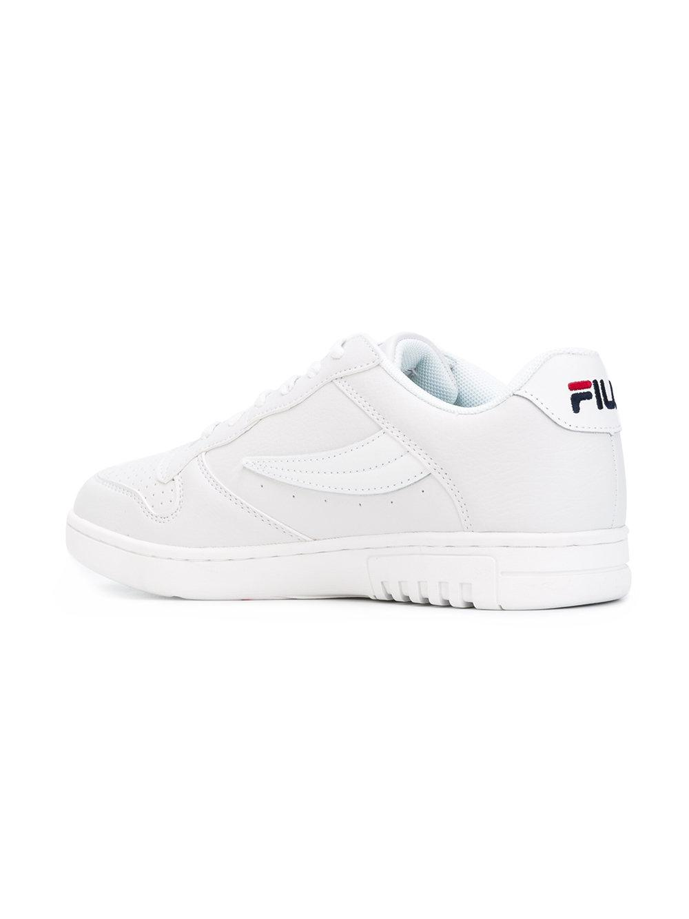 Fila Leather Fx-100 Sneakers in White