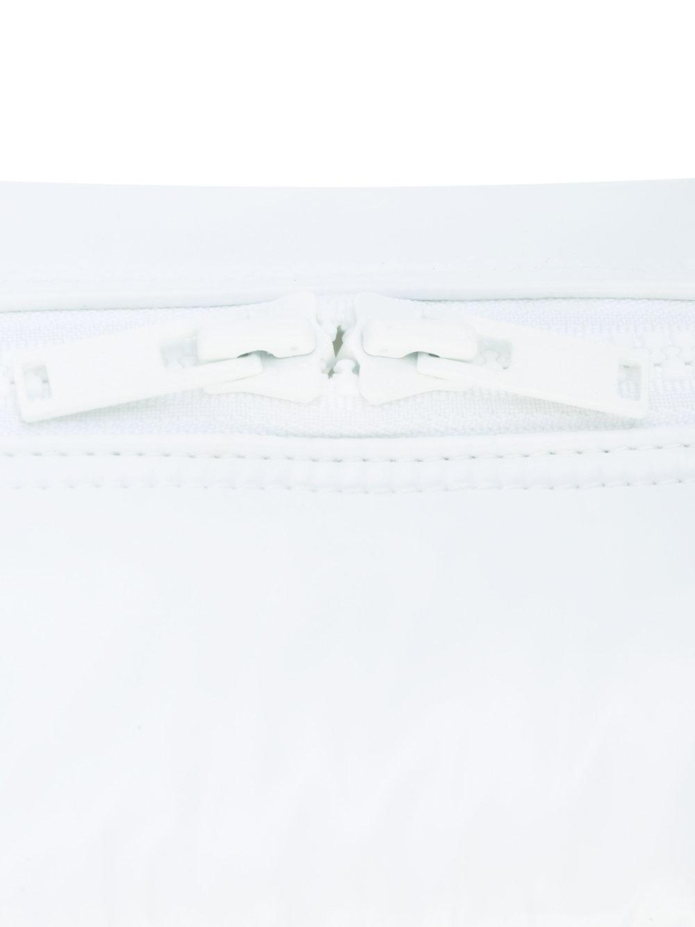 Courreges Cotton Logo Appliqué Large Tote in White