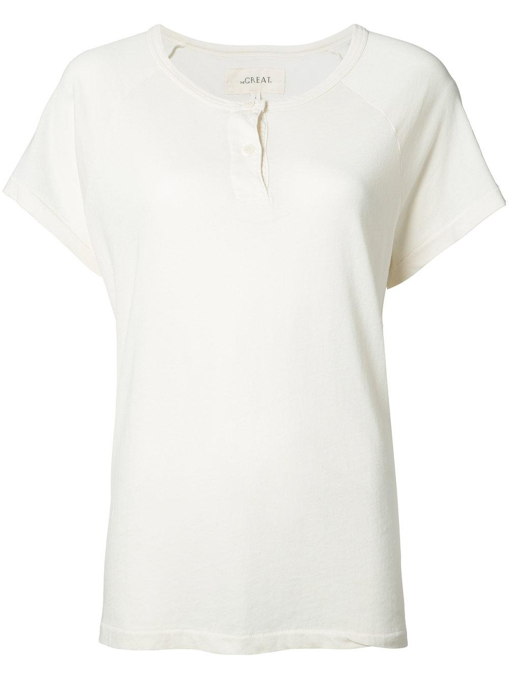 The Great Henley T Shirt In White Lyst