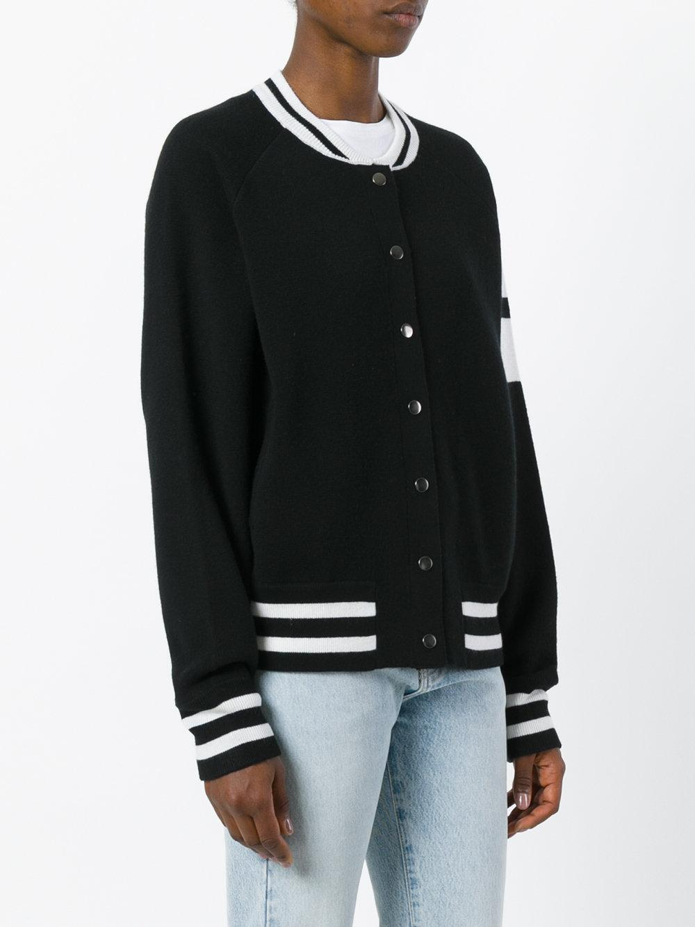 Zoe Jordan Edison Bomber Jacket In Black Lyst