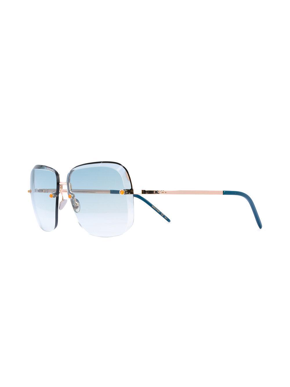 Pomellato Square Gradient Sunglasses in Blue