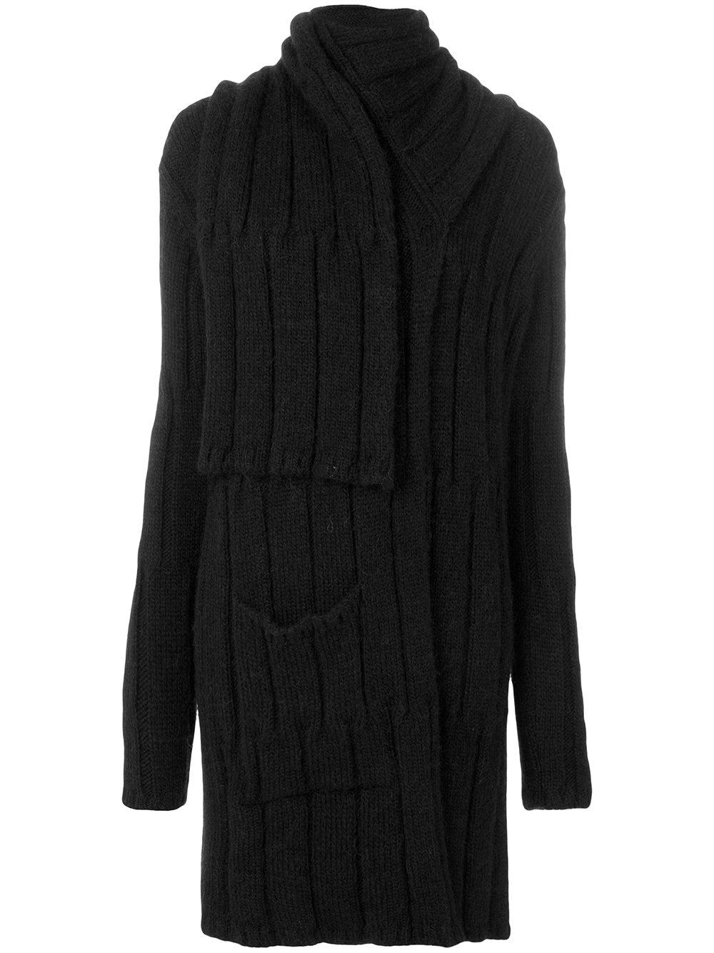 lost and found rooms scarf cardigan in black lyst