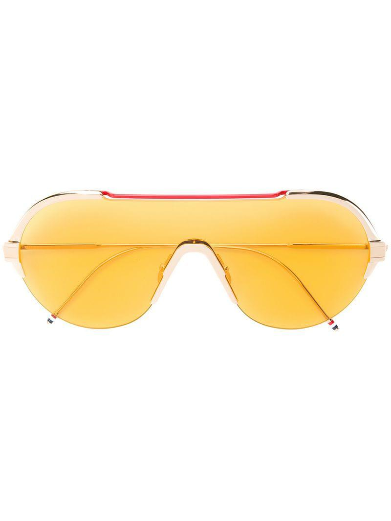 0619121fc8fc Lyst - Thom Browne Aviator Sunglasses in Metallic