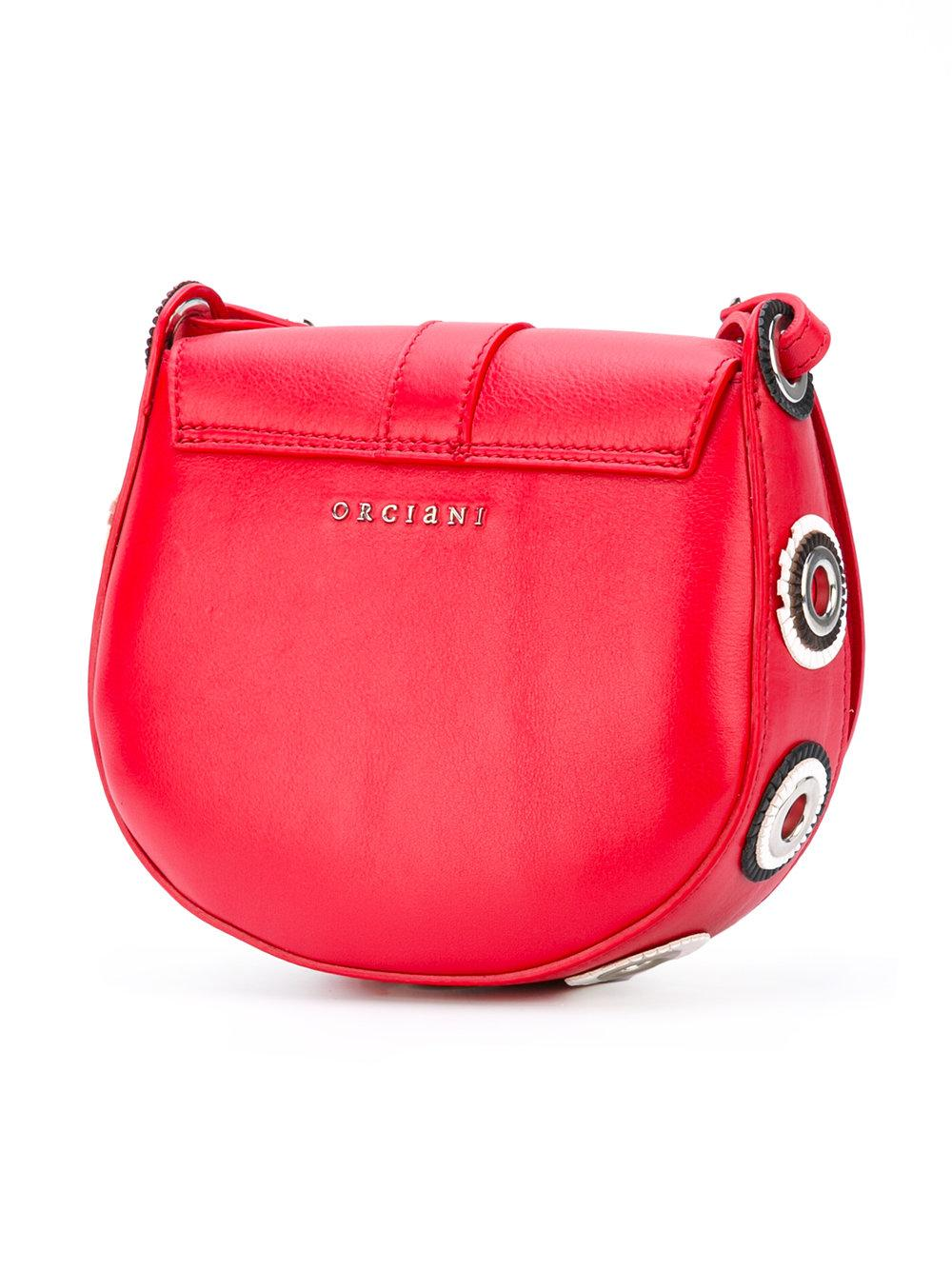 Orciani Leather Montana Crossbody Bag in Red