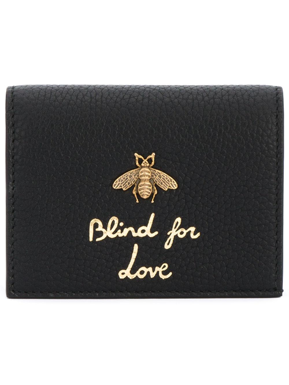 e4ed22c064179 Gucci  blind For Love  Wallet in Black - Lyst