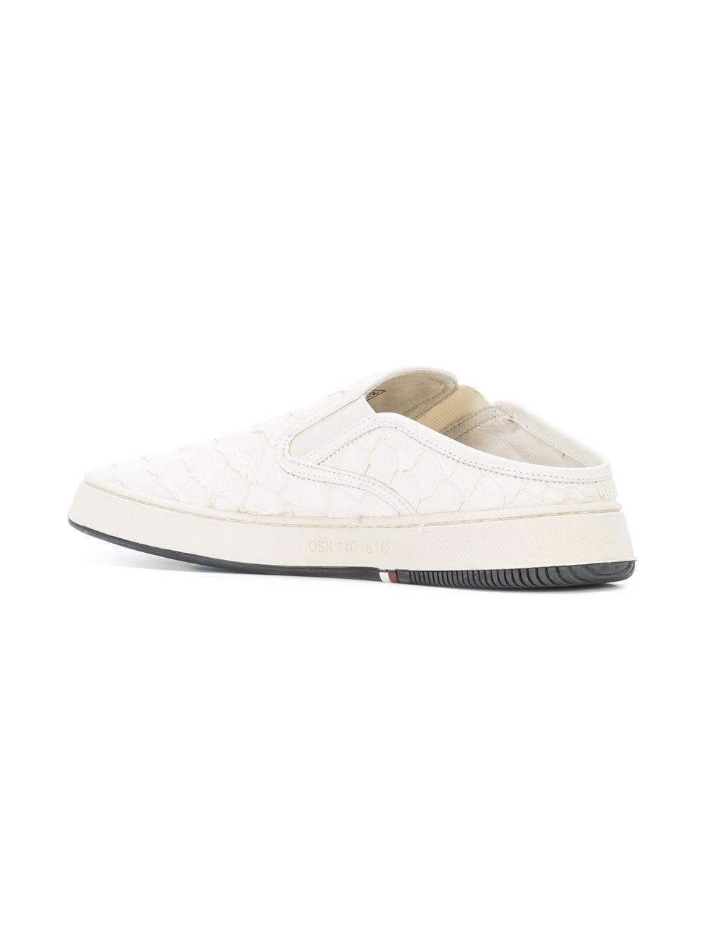 Osklen Leather Tupa Mule Sneakers in White for Men