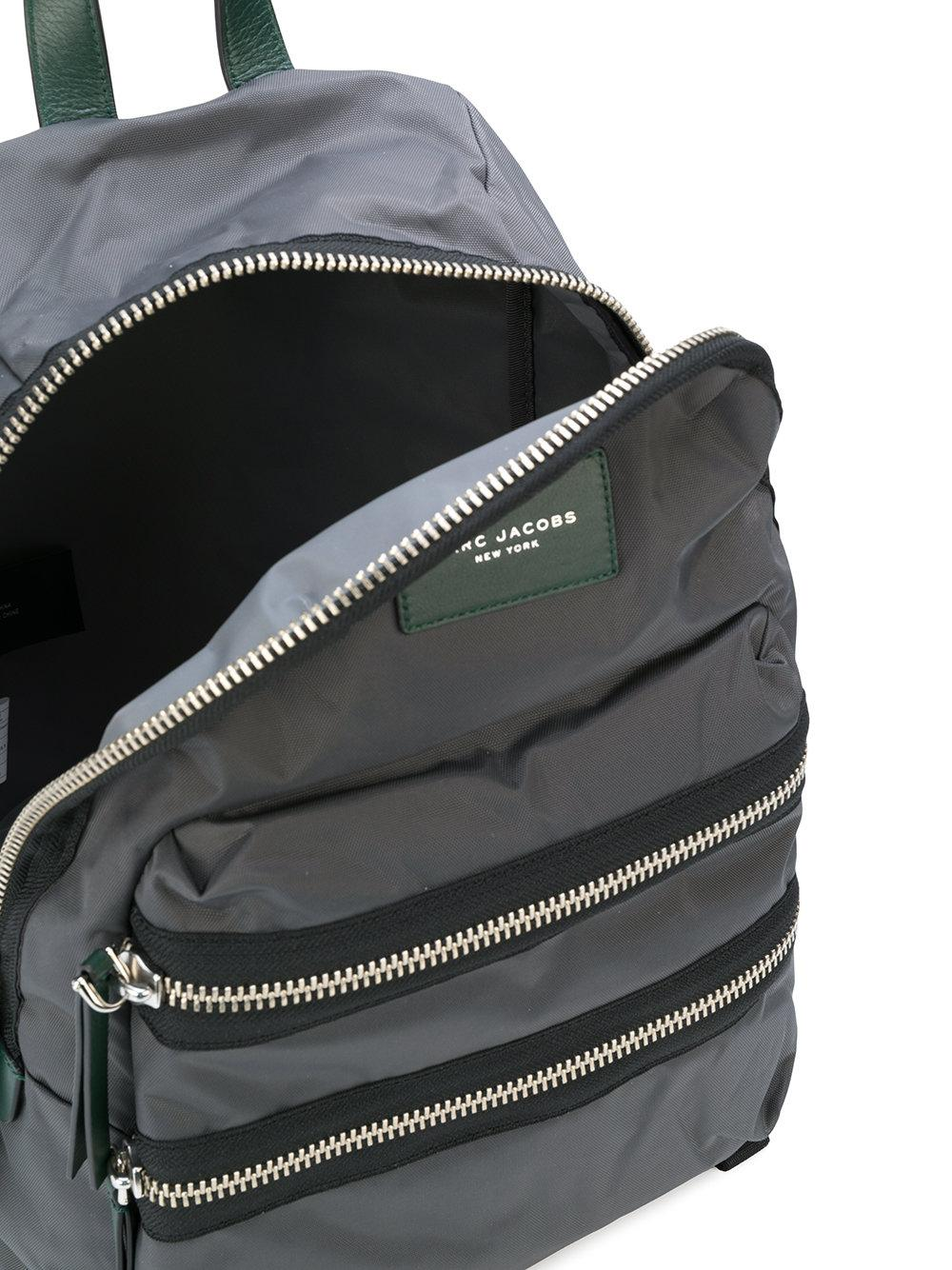 Marc Jacobs Synthetic Zipped Backpack in Grey (Grey)