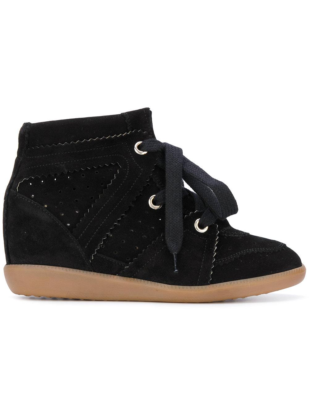 isabel marant bobby wedge trainers in black lyst. Black Bedroom Furniture Sets. Home Design Ideas