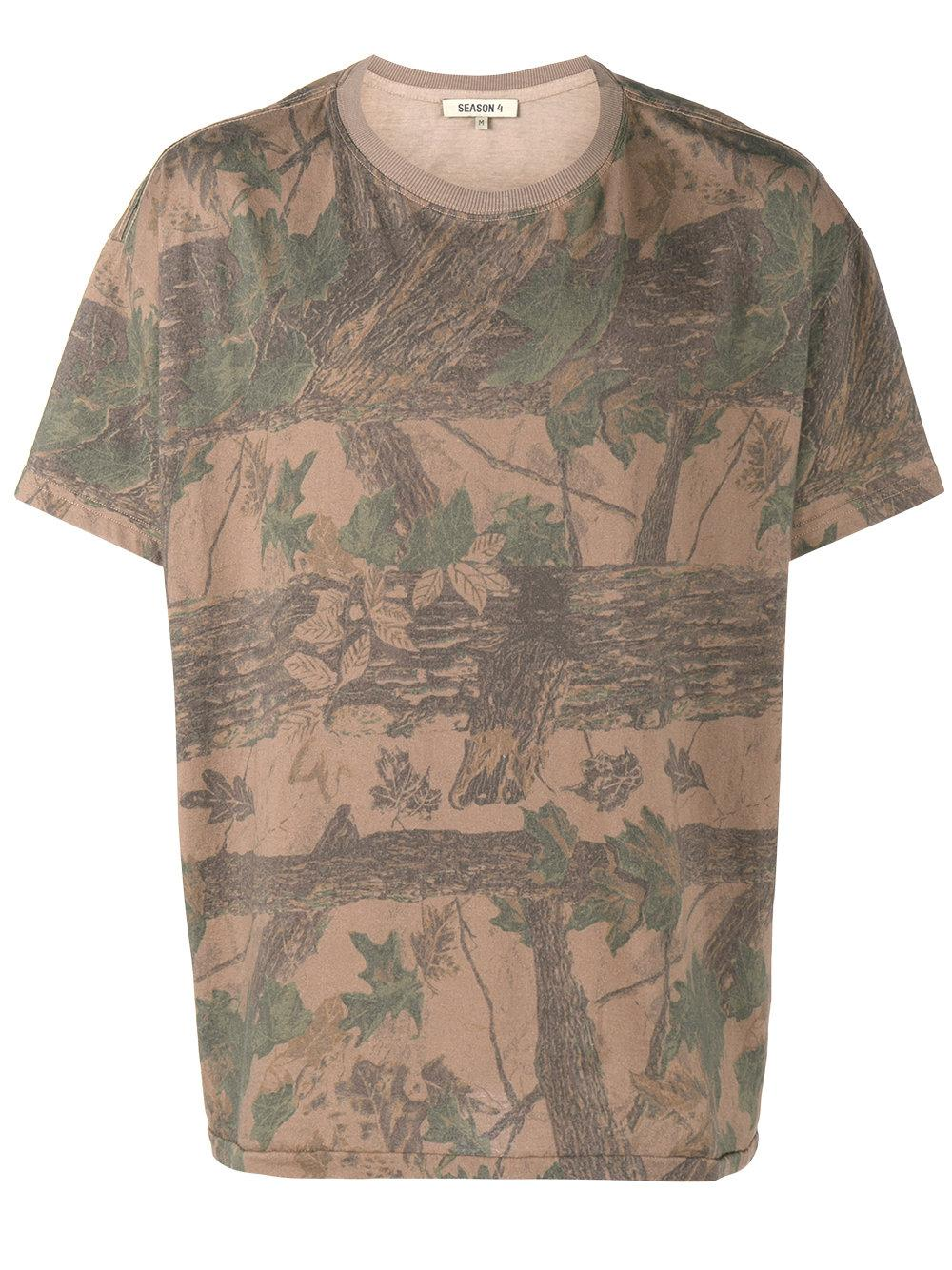 Lyst yeezy camouflage print t shirt in brown for men for Camouflage t shirt printing