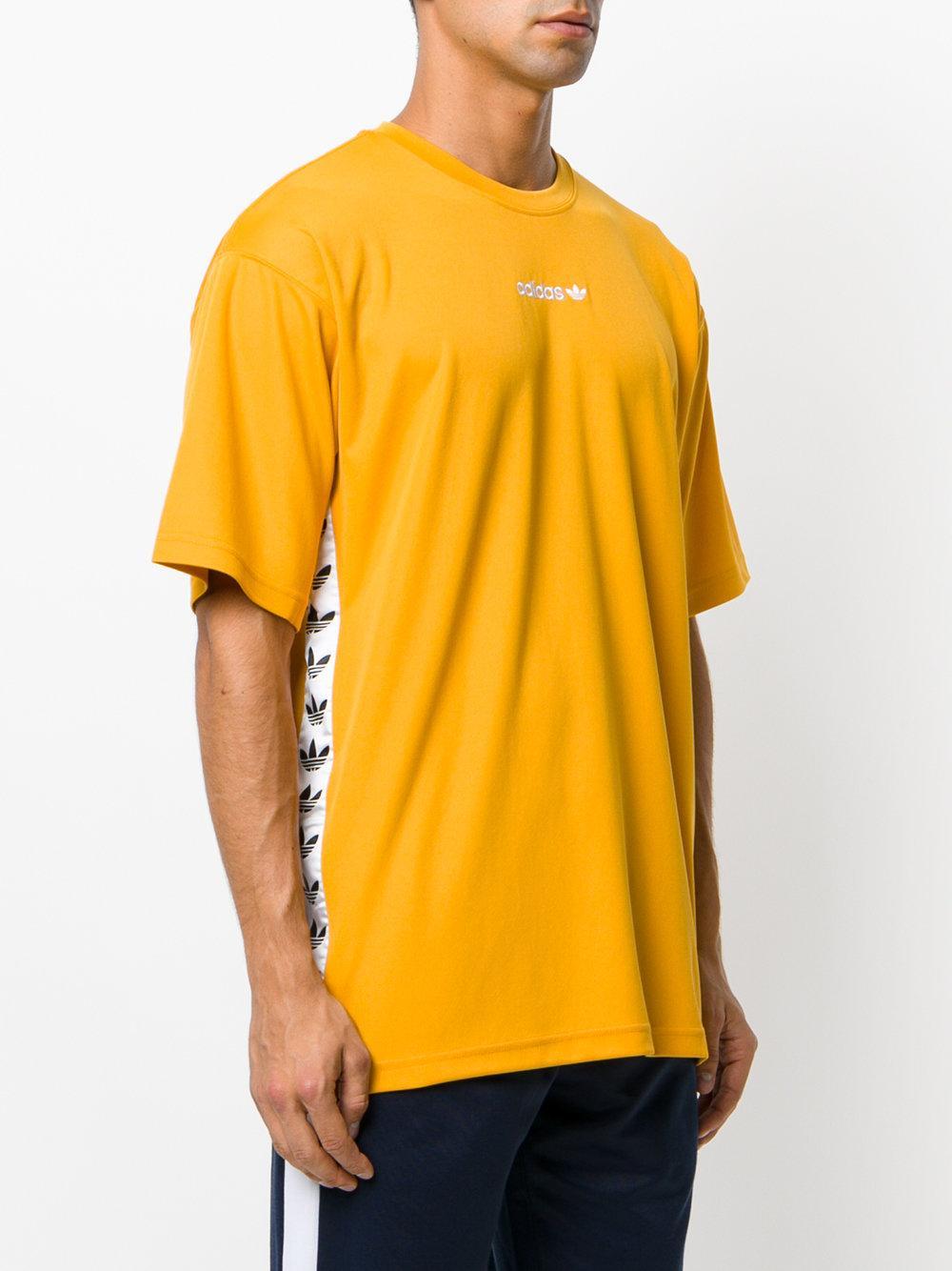 Lyst Adidas Originals Tnt Tape T Shirt In Yellow For Men