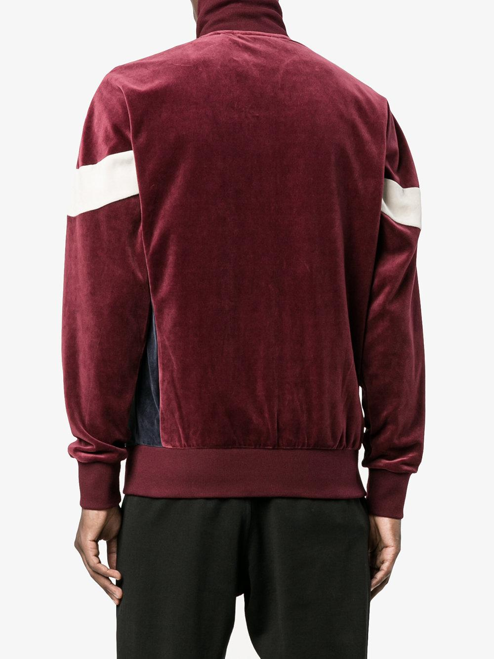 Adidas Cotton Clr84 Velour Track Jacket In Pink Amp Purple