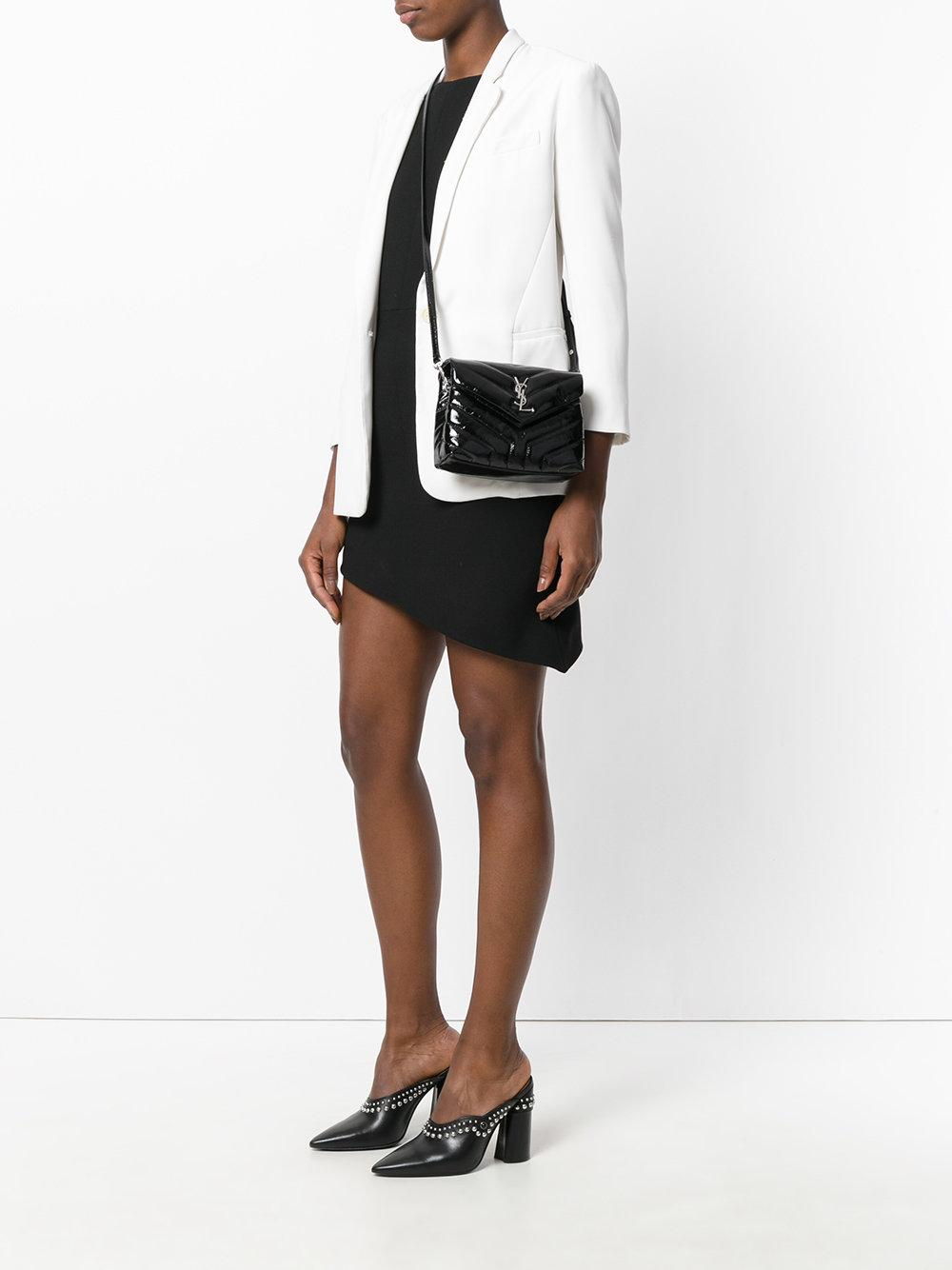 Saint Laurent Toy Loulou Strap Bag In Black Lyst