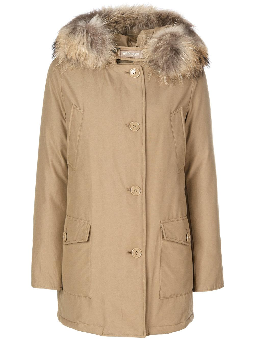 woolrich luxury arctic parka coat in natural save 15 lyst. Black Bedroom Furniture Sets. Home Design Ideas