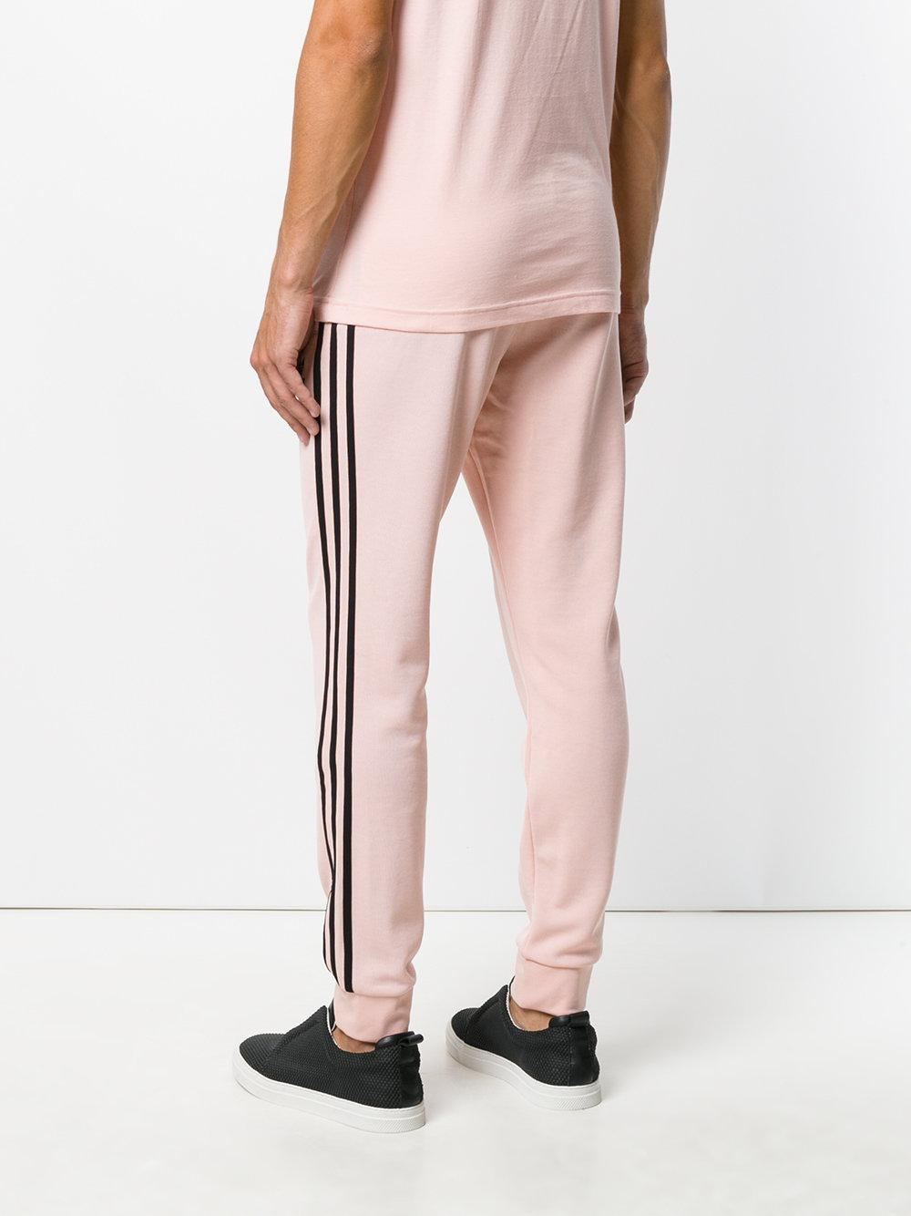 adidas Originals Cotton Sst Cuffed Tack Pants in Pink/Purple (Pink) for Men