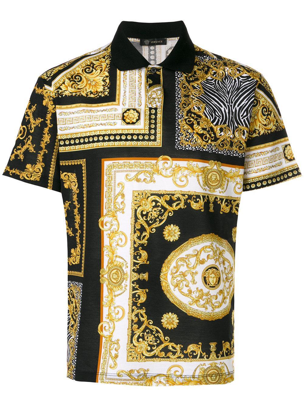Lyst - Versace Baroque Print T-shirt in Black for Men