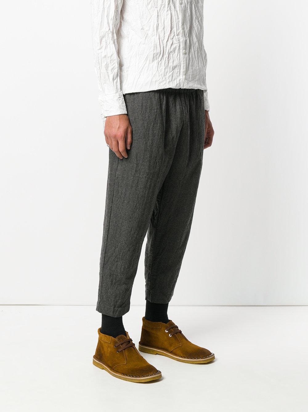 Casey Casey Wool Zwag 2 Trousers in Grey (Grey) for Men