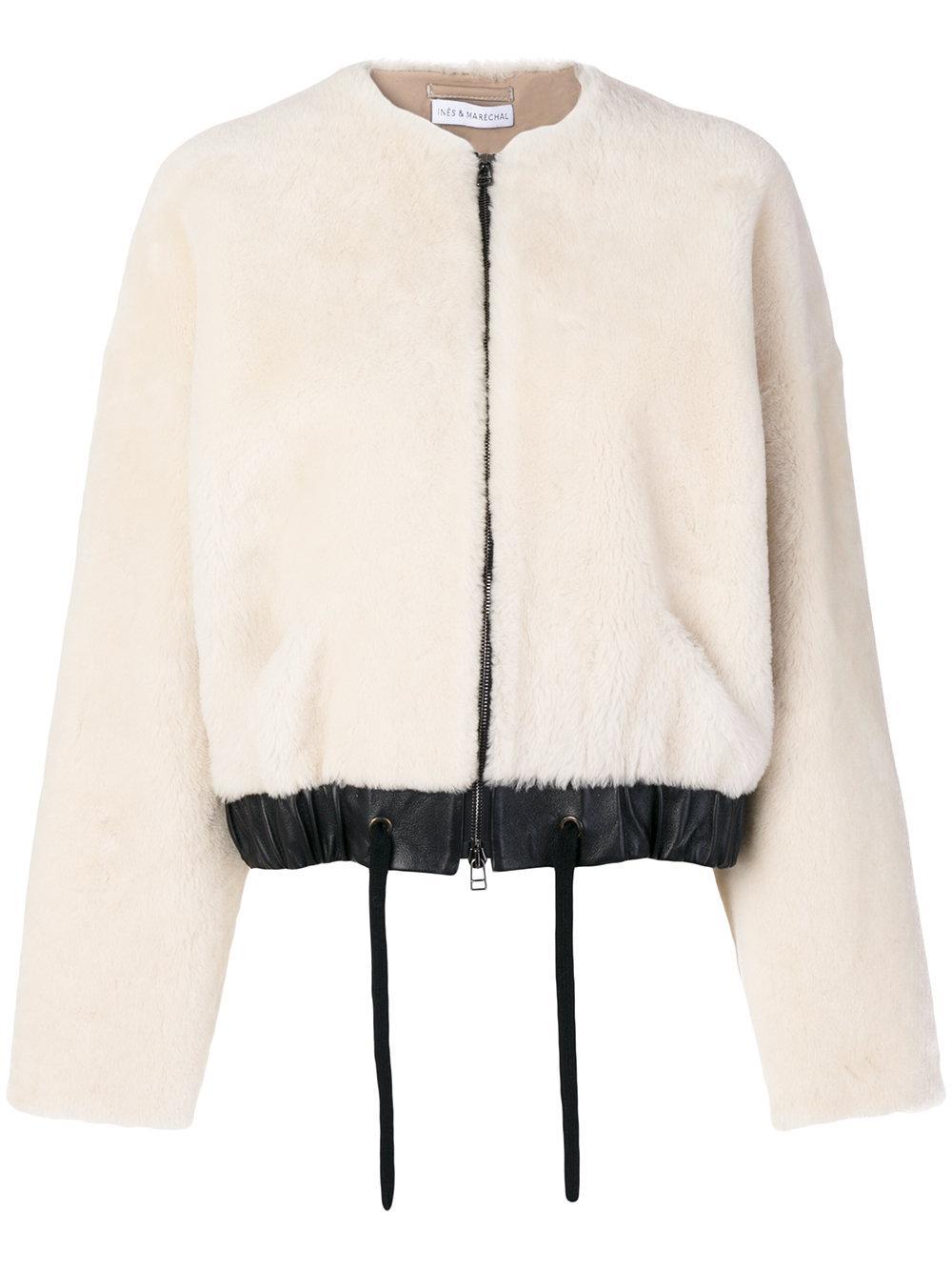 Lyst Inèsamp; Maréchal Jacket In Brume White wiuTPkZOX