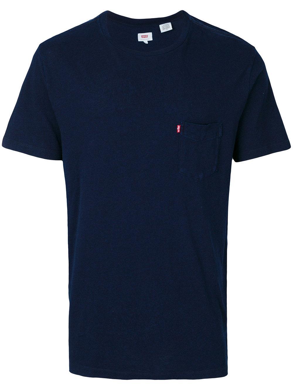 Lyst - Levi's Pocket T-shirt in Blue for Men