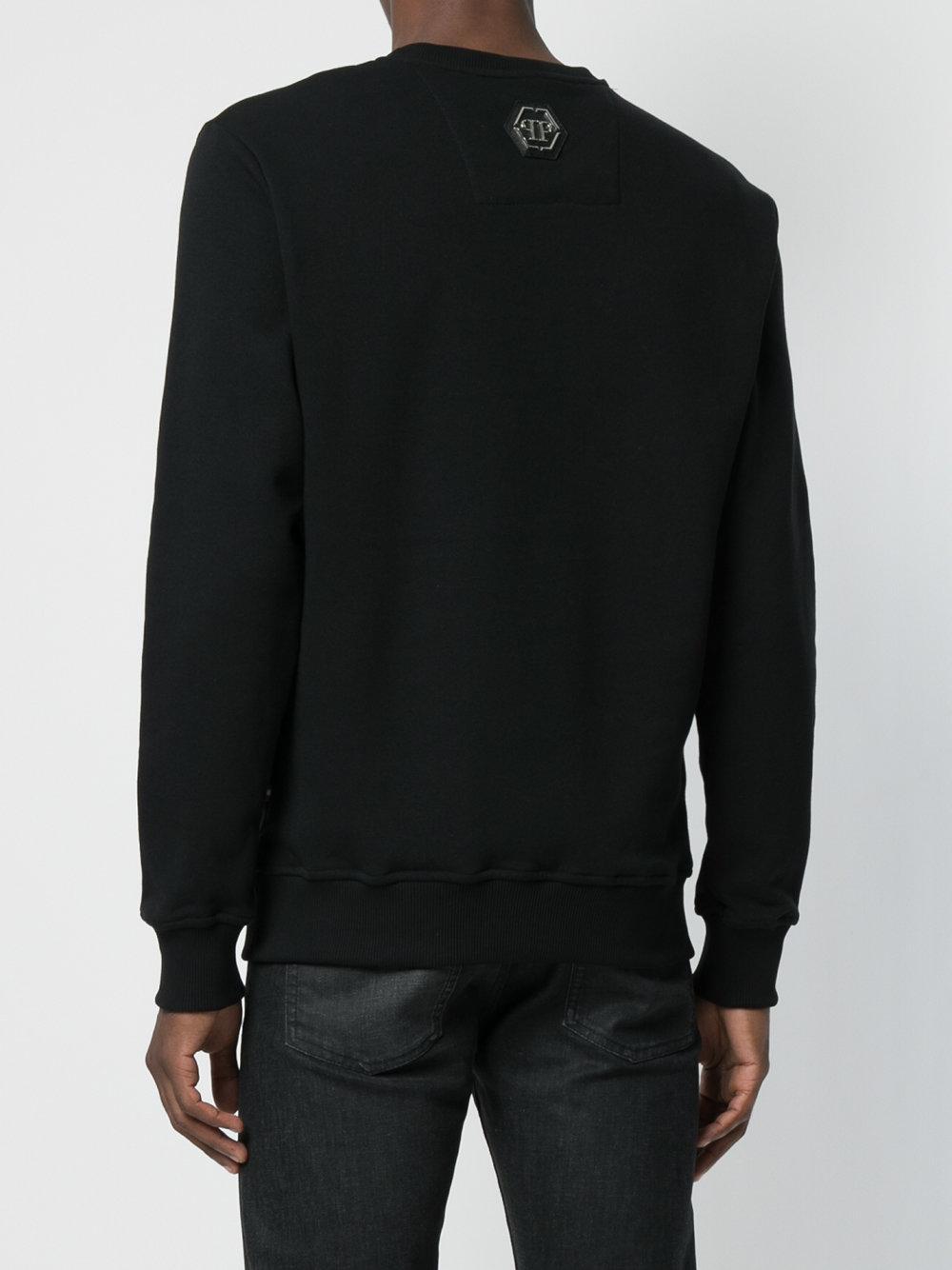 Philipp Plein Cotton Pusher Skull Pullover in Black for Men