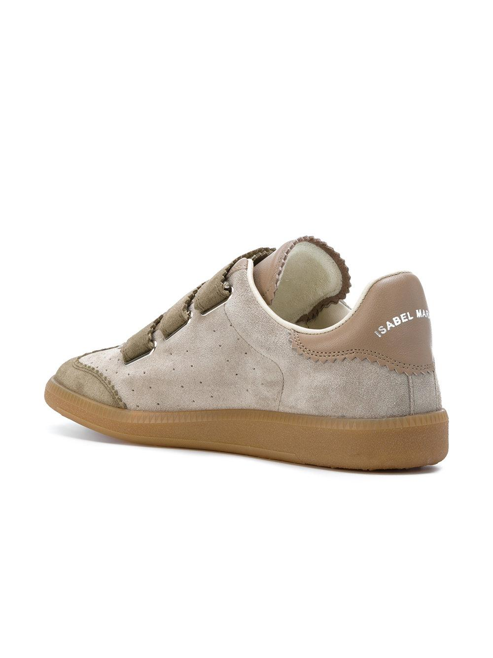 lyst isabel marant low top sneakers in natural. Black Bedroom Furniture Sets. Home Design Ideas