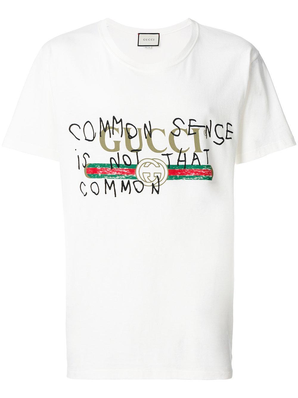 1d3a9767 Gucci White Coco Capitán Logo T-shirt for men