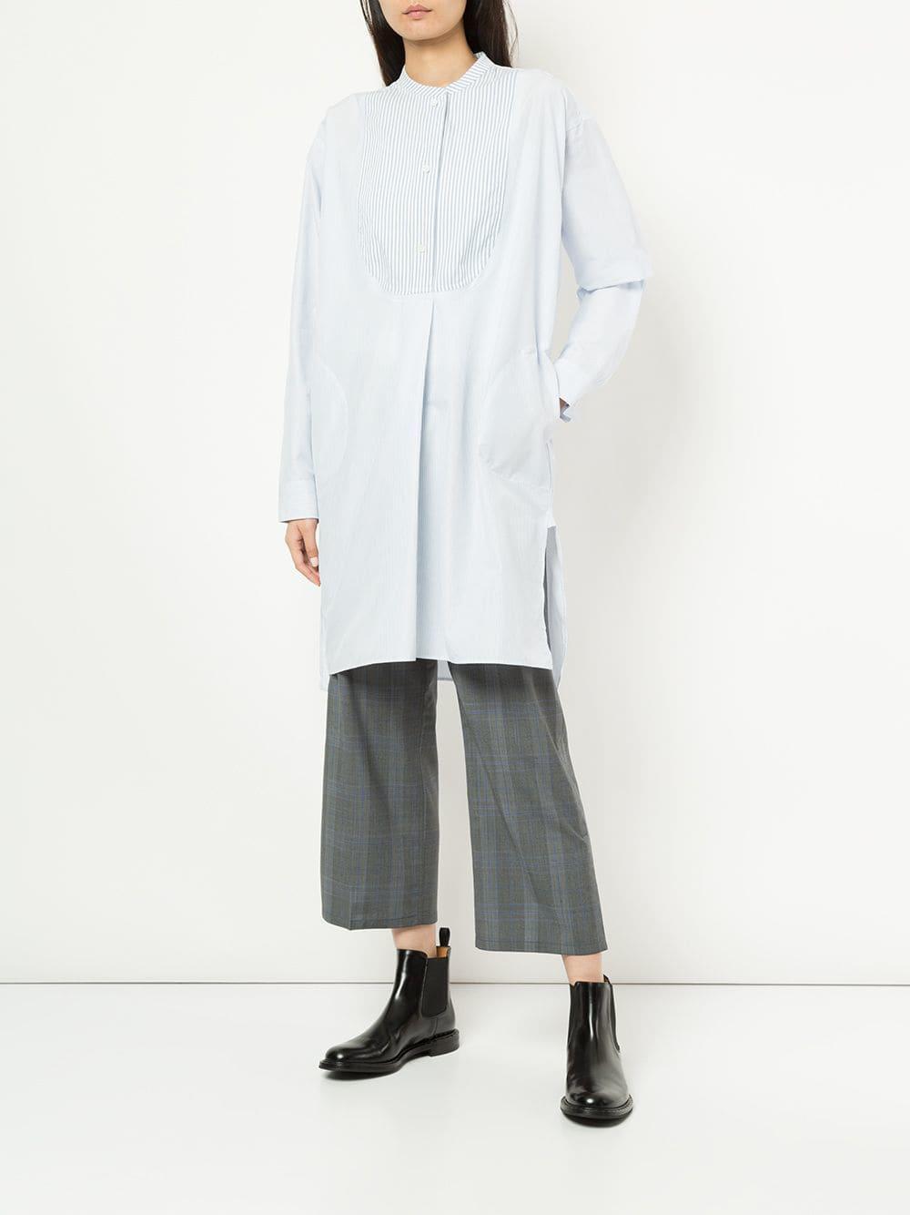 Pantalones capri a cuadros Sofie D'Hoore de Lana de color Gris