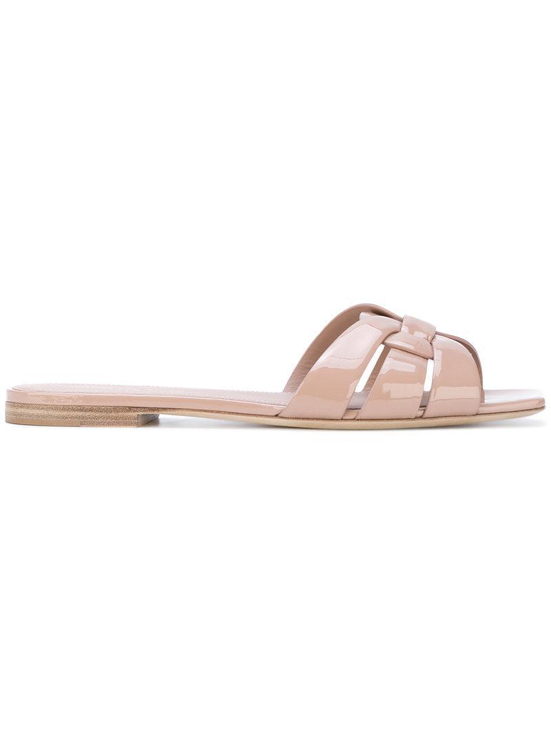 Nu Pieds 05 strappy sandals - Pink & Purple Saint Laurent CrSipO1f