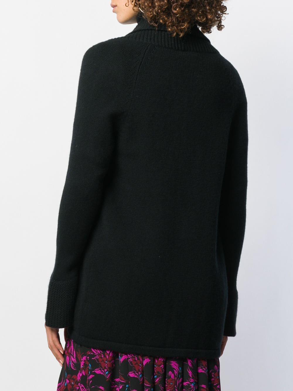 Cárdigan abierto en la parte delantera N.Peal Cashmere de Cachemir de color Negro