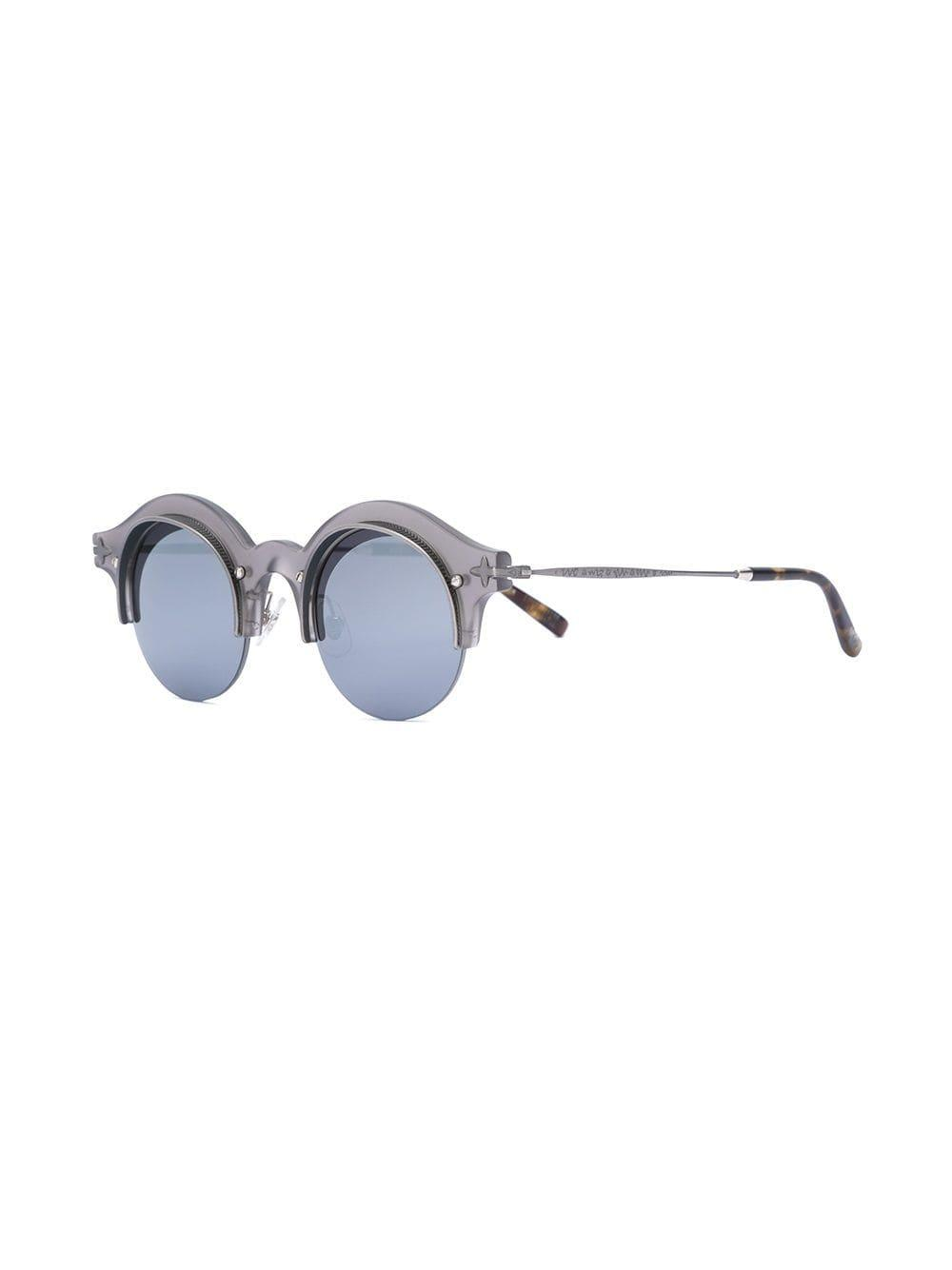 Matsuda Round Shaped Sunglasses in Grey (Grey) for Men