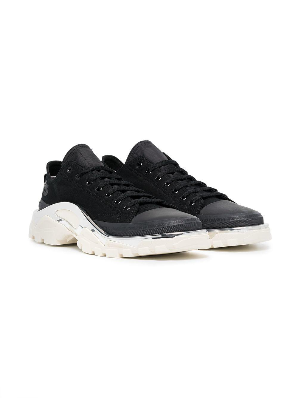 cheap for discount 6366a 83673 Adidas By Raf Simons - Black Detroit Runner Sneakers - Lyst. View fullscreen