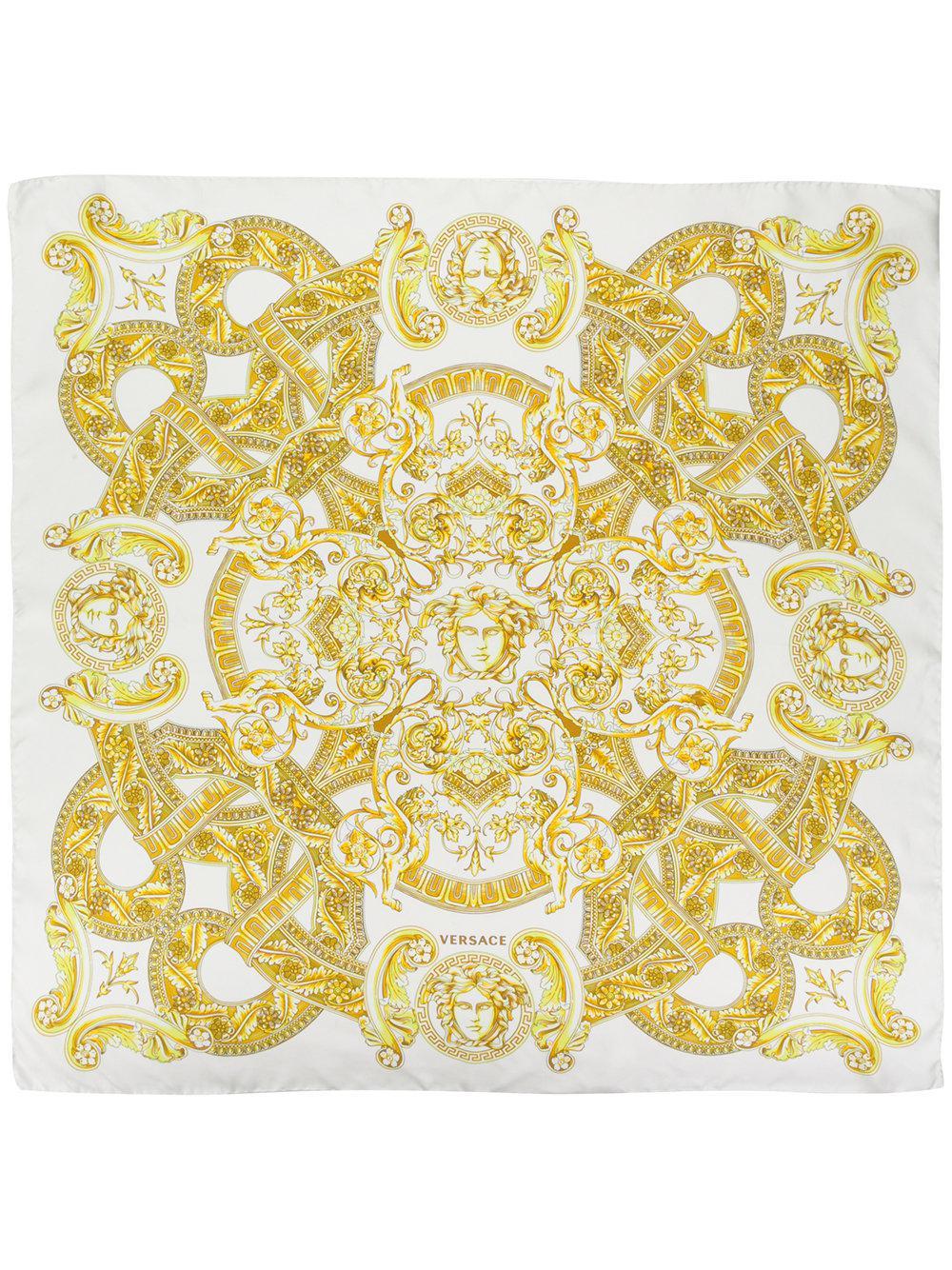 367b74bf4b Versace - White Baroque Print Scarf - Lyst. View fullscreen