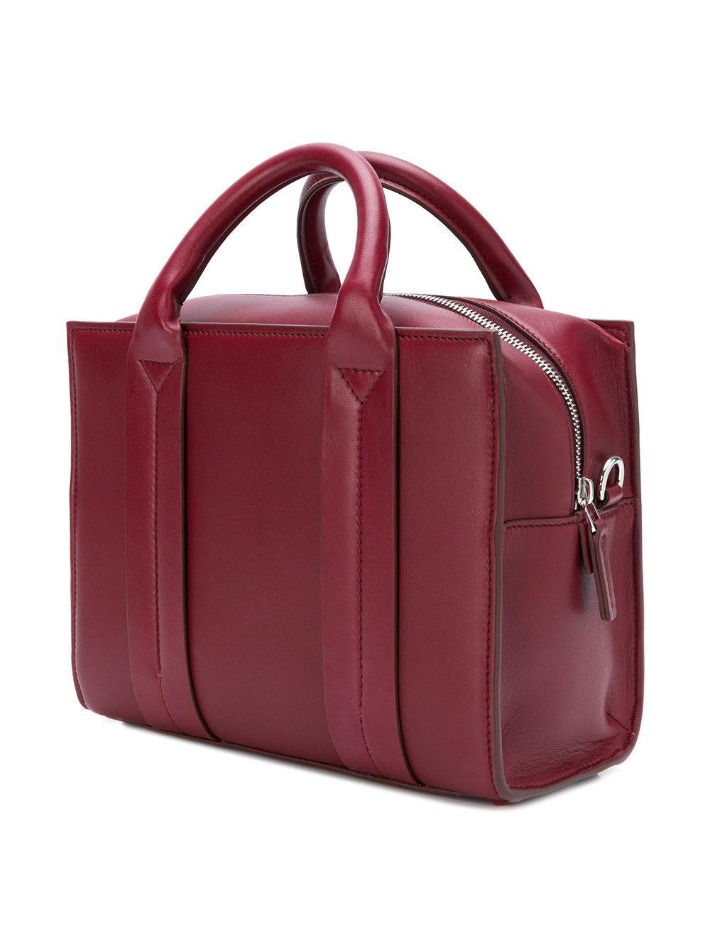 Corto Moltedo Leather Costanza Tote Bag in Red
