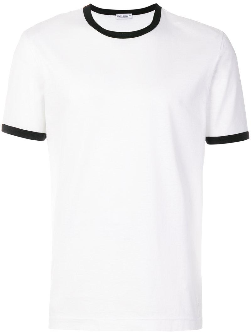 Dolce & Gabbana Contrast-trim T-shirt 4Y0r2fb