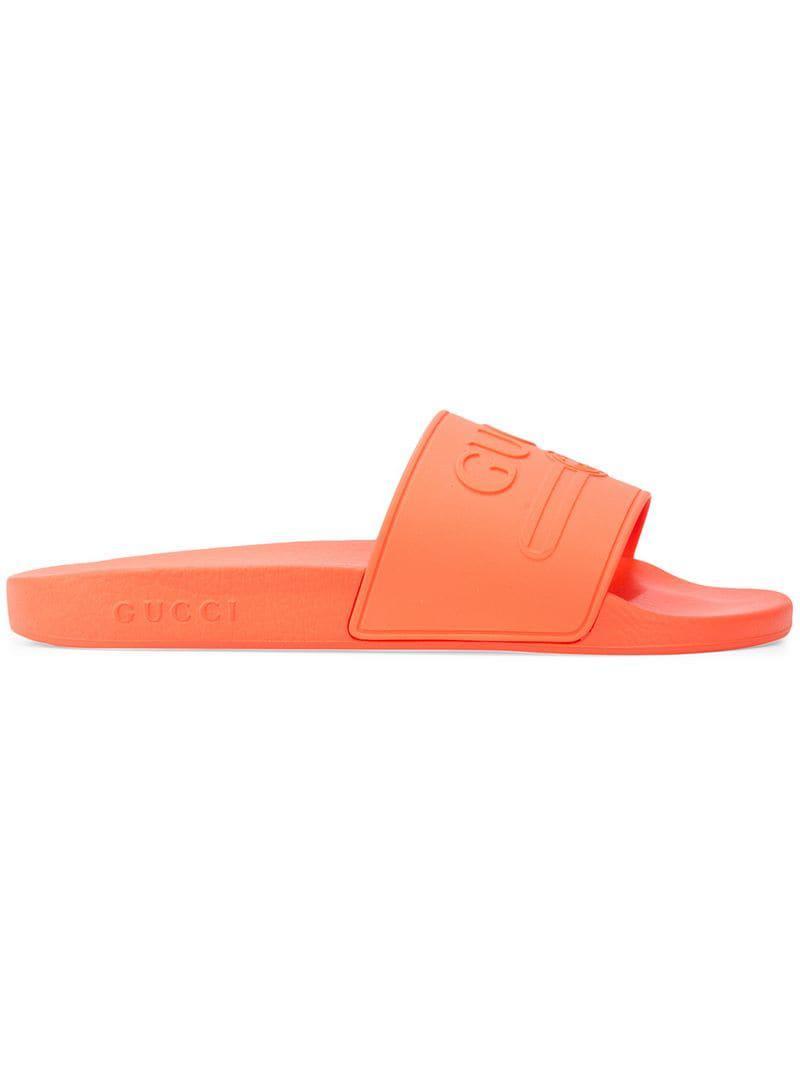 30a65fd1cc33 Gucci - Orange Slides for Men - Lyst. View fullscreen