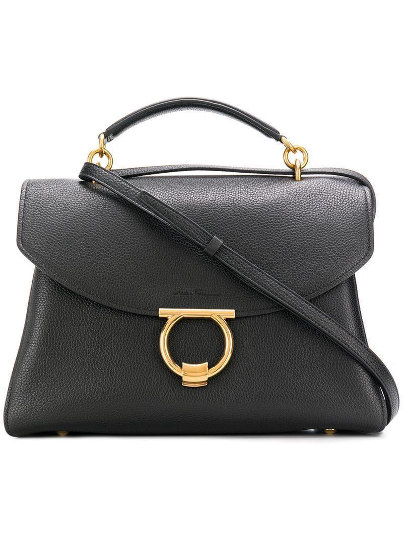 16e90de0e2 Lyst - Ferragamo Satchel Bag in Black - Save 32%