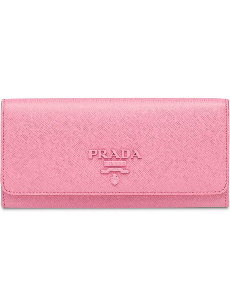 62465616c1f86 Lyst - Prada Großes Saffiano-Portemonnaie in Pink
