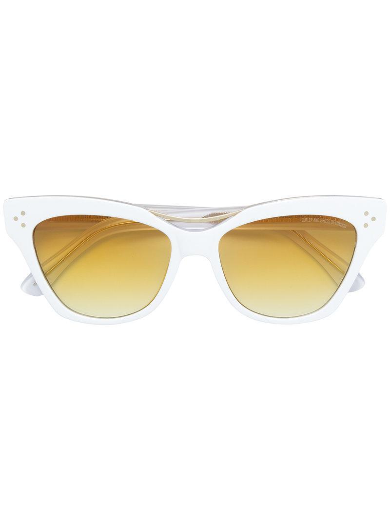 1c322c057f Lyst - Lunettes de soleil à monture papillon Cutler & Gross en ...