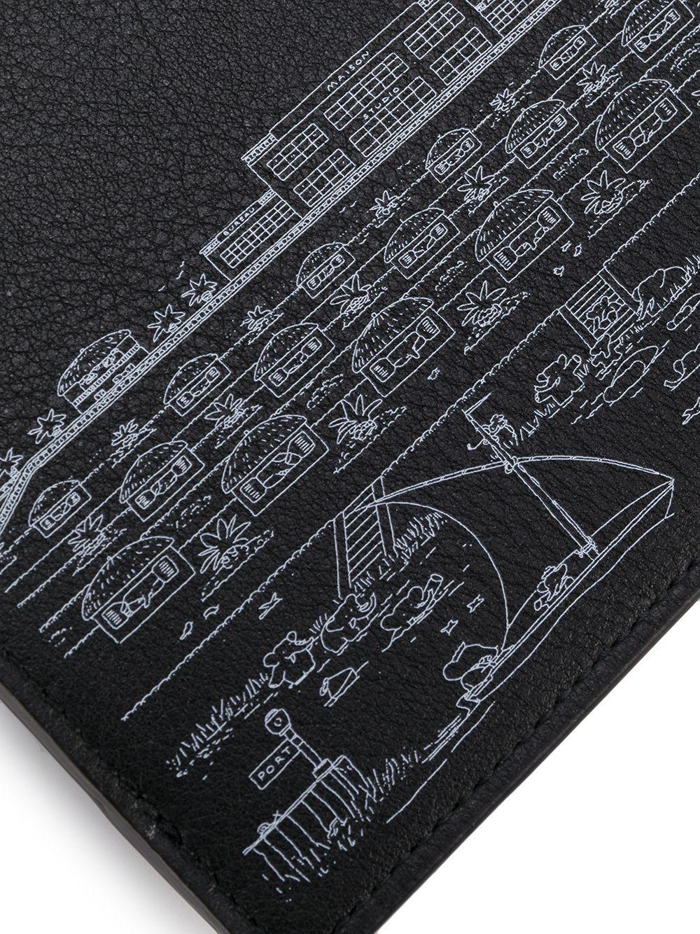Pochette Babar imprimée Lanvin en coloris Noir