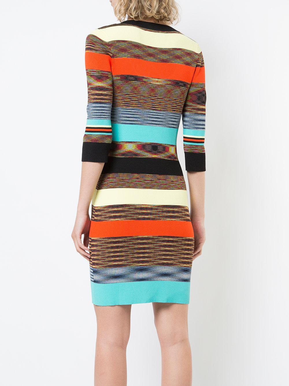 rib knit fitted dress - Multicolour Diane Von F NTQkN8SmPJ