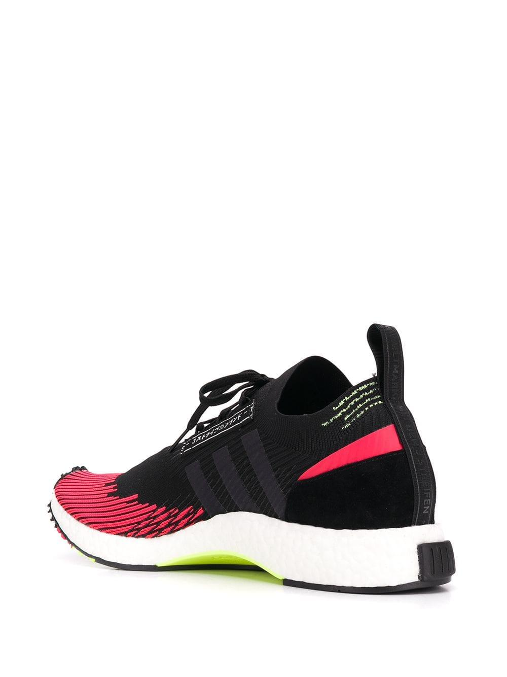 fc3a9eafc5a29 Adidas - Black And Red Nmd Racer Solar Sneakers for Men - Lyst. View  fullscreen