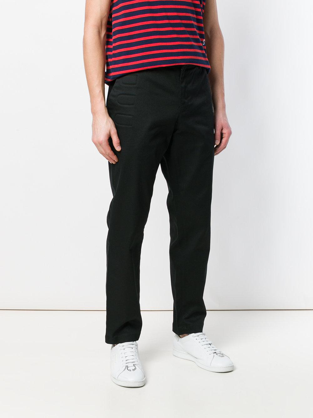 Moschino Cotton Regular Chino Trousers in Black for Men