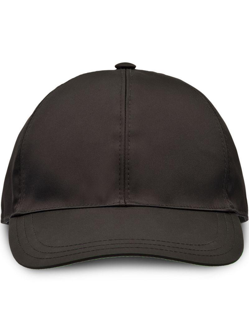 1d56faec Prada - Black Nylon Baseball Cap for Men - Lyst. View fullscreen