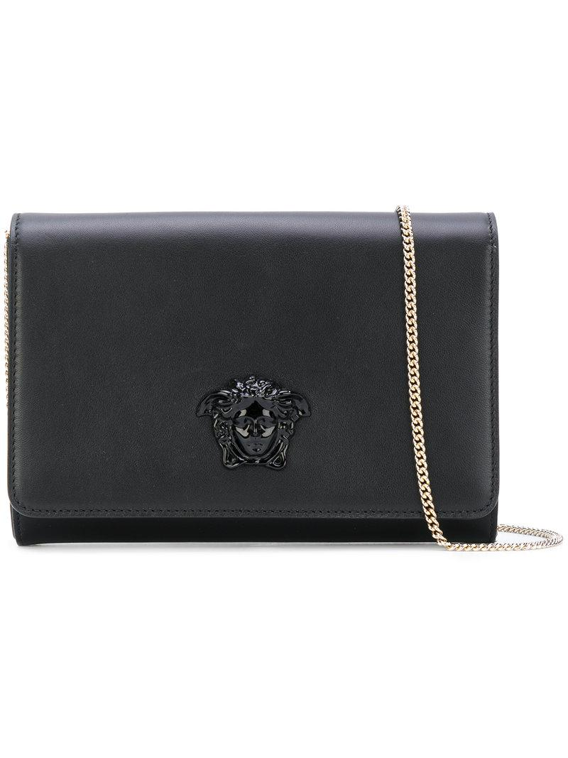 6946dea31e80 Lyst - Versace Palazzo Medusa Shoulder Bag in Black - Save 9%